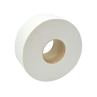 Dura Plus Jrt White 2 Ply Bathroom Tissue 218 Metres Core 3.3'', 8/Case