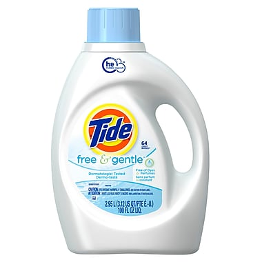 Tide Liquid Laundry Detergent Free and Gentle 2.95 L, 4 Packs/Case