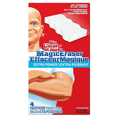 Mr. Clean Extra Power Magic Eraser, 4/Pack, 8 Packs/Case