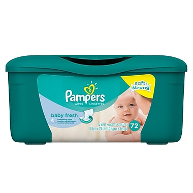Pampers Fresh Scent Tub Wipes, 72 Wipes, 8/Case