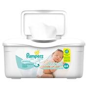 Pampers – Pot de lingettes pour peau sensible, 8 x 72, 8 paquets/boîte