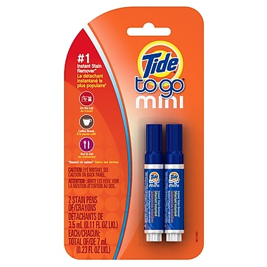 19677 Tide To Go Mini Instant Stain Remover 2 Pack 3.5 mL, 2/Pack, 6 Packs/Case