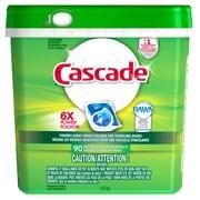 Cascade – Liquide à vaisselle sachets à action détergente 90 unités, 3 paquets/boîte