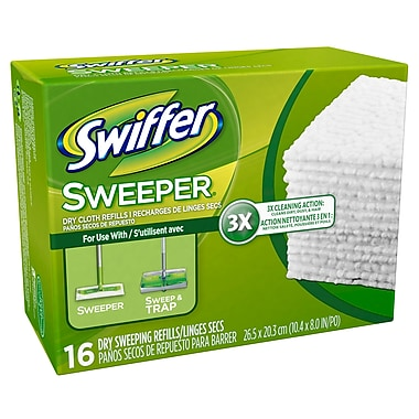 Swiffer Dry Cloth Refills case per 12 x 16 , 16/Pack, 12 Packs/Case
