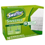Swiffer – Recharges de linges secs par 12 x 16, 16/paquet, 12 paquets/boîte