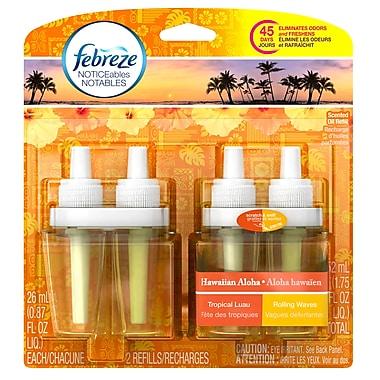 Febreze – Recharges de désodorisant textile notables de 52 ml, Aloha hawaïen, 6 paquets/boîte