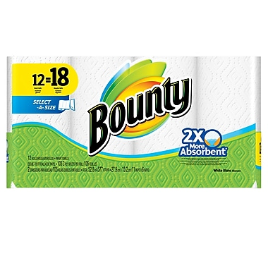 Bounty 105 Sheet Paper Towel, 12 Rolls, 2 Packs/Case