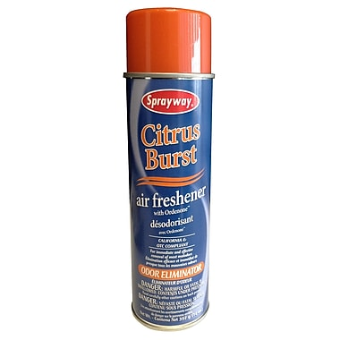 Assainisseur d'air en vaporisateur, 14 oz, parfum d'agrumes, 12/paquet