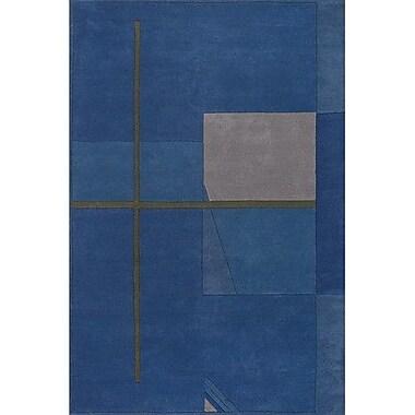 Ebern Designs Aurigae Blue Rug; 2' x 3'