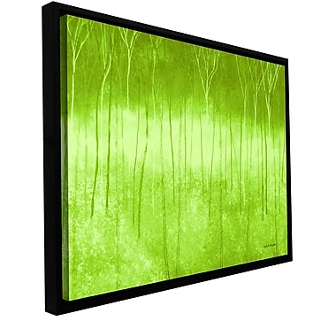 ArtWall 'Verda Forest 2' by Herb Dickinson Framed Painting Print on Wrapped Canvas; 12'' H x 24'' W