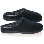 Deluxe Comfort Vamp w/ Checked Lining Male Slippers; 9- 10