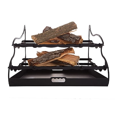 Shelter Stepflame Duel-Tier Fireplace Grate; 18'' H