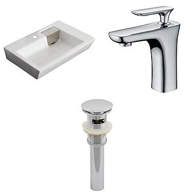 American Imaginations Rectangular Vessel Bathroom Sink w/ Overflow