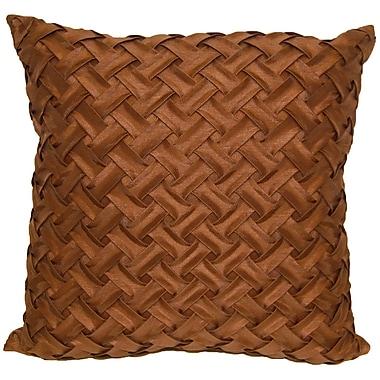 Universal Home Fashions Basketweave Throw Pillow; Chocolate