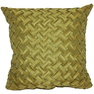 Universal Home Fashions Basketweave Throw Pillow; Green