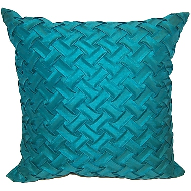 Universal Home Fashions Basketweave Throw Pillow; Mineral