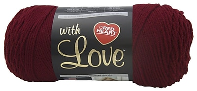 Red Heart With Love Yarn, Berry Red