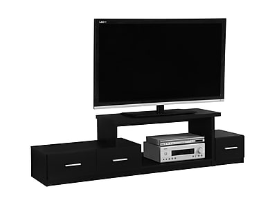Monarch Specialties TV Stand Black (I 2671)