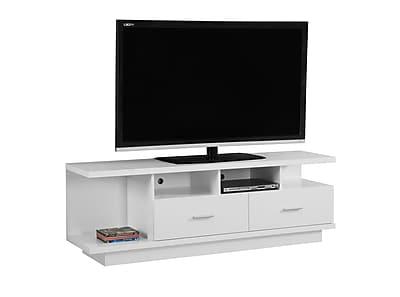 Monarch Specialties TV Stand White (I 2676)