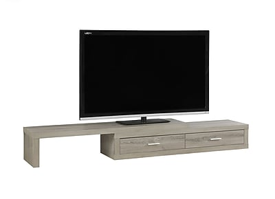 Monarch Specialties Expandable TV Stand Dark Taupe (I 2679)