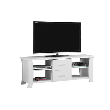 Monarch – Support téléviseur 2684, 60 po long., blanc