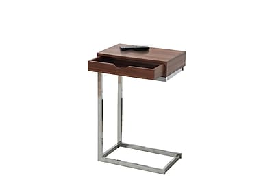 Monarch Specialties Metal Accent Table, Walnut, Each (I 3070)