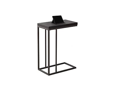 Monarch Specialties Accent Table in Cappuccino and Bronze Metal ( I 3088 )