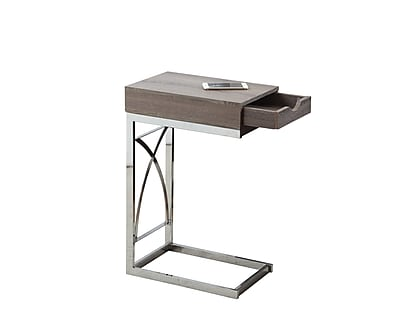 Monarch Specialties Metal Accent Table, Gray, Each (I 3173)