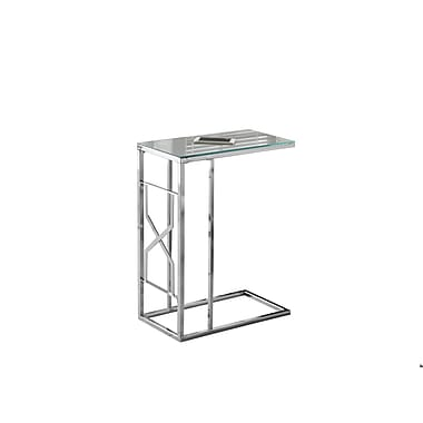 Monarch 3175 Accent Table, Mirror Top, Chrome Metal