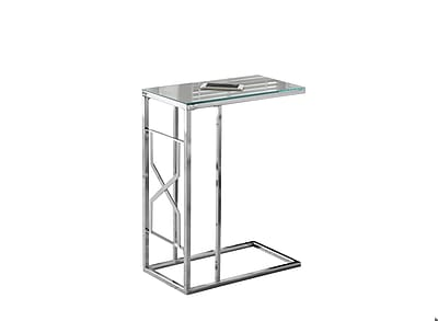 Monarch Specialties Accent Table In Chrome With a Mirror Top ( I 3175 )