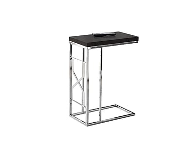 Monarch Specialties Metal Accent Table, Cappuccino, Each (I 3176)