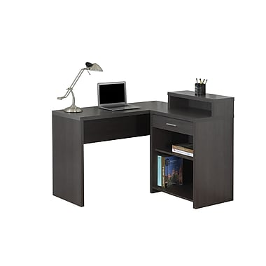 Monarch 7126 Computer Desk, Grey Corner with Storage