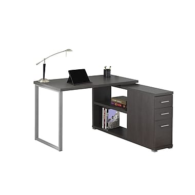 Monarch 7135 Computer Desk, Grey, Left Or Right Facing Corner