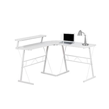 Monarch – Bureau d'ordinateur 7170, blanc/métal blanc