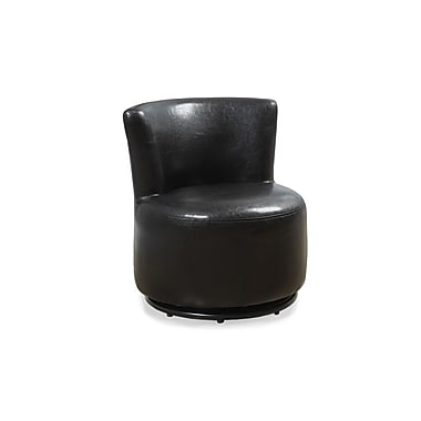 Monarch 8150 Juvenile Chair, Swivel, Dark Brown, Leather-look