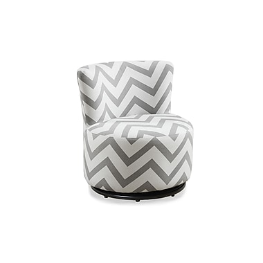 Monarch 8151 Juvenile Chair, Swivel, Grey Chevron Fabric