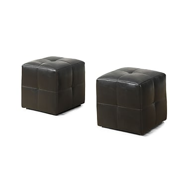 Monarch 8160 2 Piece Ottoman Set, Juvenile, Leather-look