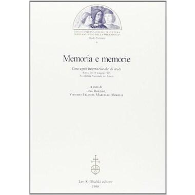 Memoria E Memorie Atti Del Convegno Internazionale Di Studi Roma 18-19 Maggio 1995, New Book (9788822246813)