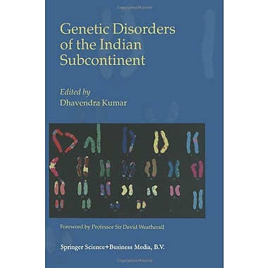 Genetic Disorders Of The Indian Subcontinent, New Book (9789048162628)