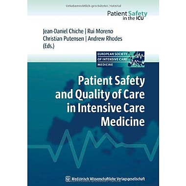 Patient Safety And Quality Of Care In Intensive Care Medicine, New Book (9783941468115)
