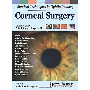 Surgical Techniques In Ophthalmology Corneal Surgery, New Book (9788184488579)