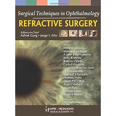 Surgical Techniques In Ophthalmology Refractive Surgery, New Book (9788184487770)