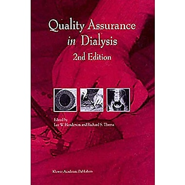 Quality Assurance In Dialysis Developments In Nephrology, New Book (9789048151134)