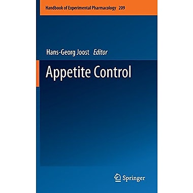 Appetite Control Handbook Of Experimental Pharmacology, New Book (9783642247156)