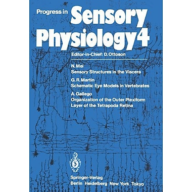 Progress In Sensory Physiology, New Book (9783642691652)
