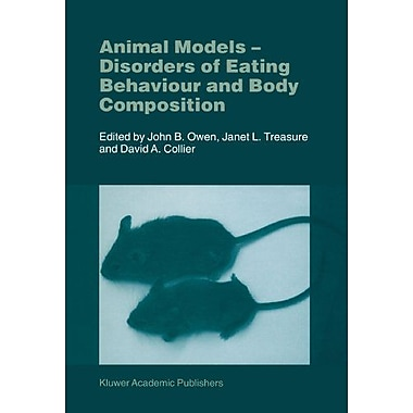 Animal Models Disorders Of Eating Behaviour And Body Composition, New Book (9789048157433)