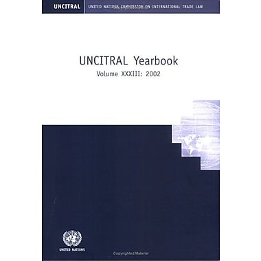 United Nations Commission On International Trade Law 2002 Yearbook, New Book (9789211337372)