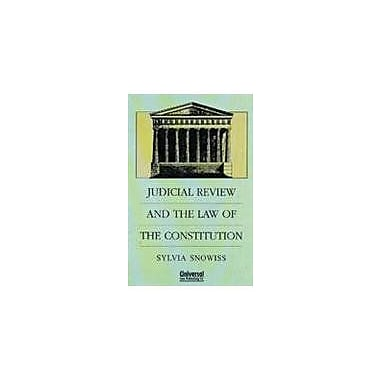Judicial Review And The Law Of The Constitution, New Book (9788175340282)
