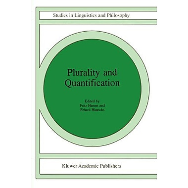 Plurality And Quantification Studies In Linguistics And Philosophy, New Book (9789048149438)