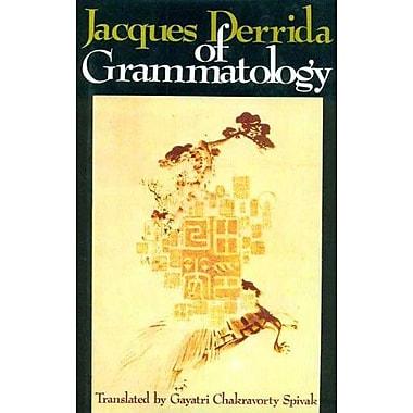 Jacques Derrida Of Grammatology, New Book (9788120811874)